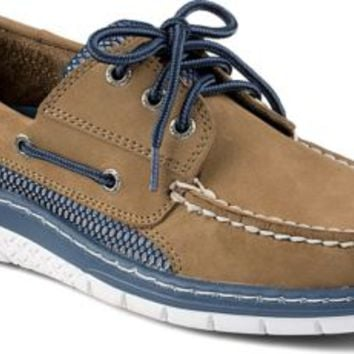 Sperry Top-Sider Billfish Ultralite 3-Eye Boat Shoe Taupe/Blue, Size 7M  Men's Shoes