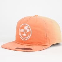 Vans Dipped Mens Snapback Hat Orange One Size For Men 25073070001