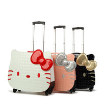 18 Inch Hello Kitty Cartoon trolley Suitcase Luggage Pull Rod Hello kitty luggage case box for Women Girl Children Kids