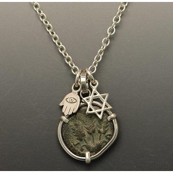 Ancient Coin Jewish Necklace