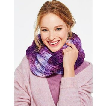 Purple Peace Infinity Ombre Scarf