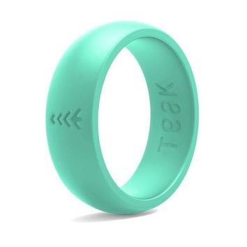 LMFMS6 Silicone Wedding Ring for Women. Rubber Wedding Band for Every Day Use - Yoga, Training, Sports, Military, Work, Travel and Outdoor - Teak