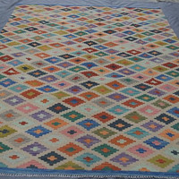FREE SHIPPING!!! 6.5' x 9.8'   Afghan Handmade Colorful Kilim
