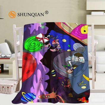 Custom Rick and Morty Blanket Soft Fleece DIY Your Picture Decoration Bedroom Size 58x80Inch,50X60Inch,40X50Inch A7.10