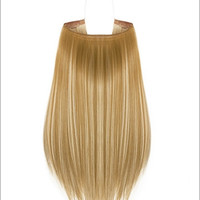 "Hidden Halo Flip-in Extensions by Lord & Cliff (Straight) - 18"" Heat-Friendly Fiber (Color F26/613)"