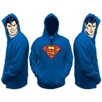 Superman All View Men's Zip Hooded Sweatshirt