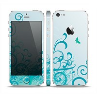 The Escaping Butterfly Floral Skin Set for the Apple iPhone 5