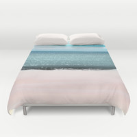 Serenity Beach Duvet Cover by Jenartanddesign