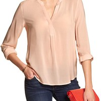 Banana Republic Womens Factory Half Placket Blouse.