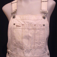 90s Light Denim Blue Jean Bibbed Overalls Dungaree Shorts
