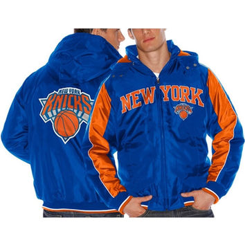 New York Knicks Rover Poly Hooded Full Zip Jacket – Royal Blue