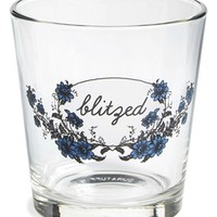 Fishs Eddy 'Blitzed' Double Old Fashioned Glass - Blue