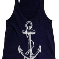 Friendly Oak Women's Anchor Tank Top