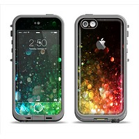 The Neon Glowing Grunge Drops Apple iPhone 5c LifeProof Fre Case Skin Set