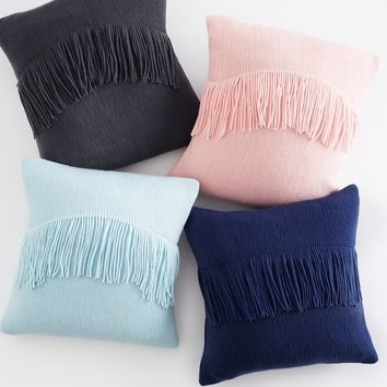 Chic Fringe Pillow Cover