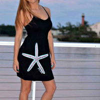 fun nautical clothing with a starfish on the beach dress perfect for summertime