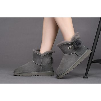 Fashion UGG LIMITED EDITION CLASSICS Boots GREY VIOLET Women Shoes 1017501-2