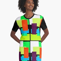 'DESIGN 99456' Graphic T-Shirt Dress by IMPACTEES