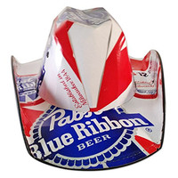 Pabst Blue Ribbon (PBR) Beer Box Cowboy Hat