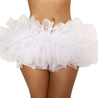 Sexy Mini Fluffy Ruffle Tutu White