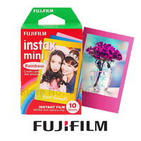 Genuine Fujifilm Fuji Instax Mini 8 Film Rainbow 10pcs for Fujifilm Instax Mini 8 8 Plus 70 25 90 Camera SP-1 SP-2