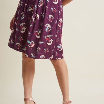 Emily and Fin Retro Reverie A-Line Skirt in Sassy Ski