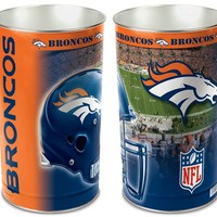 "Hall Of Fame Memorabilia Denver Broncos 15"" Waste Basket"