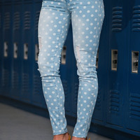 Polka Dot Skinny Jean, Light
