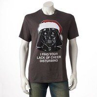 STAR WARS Darth Vader I FIND YOUR LACK OF CHEER DISTURBING Tee CHRISTMAS T Shirt