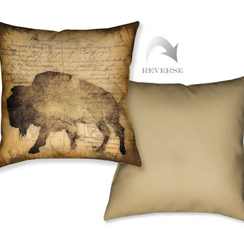 Buffalo Indoor Decorative Pillow