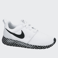 Womens Roshe Run Print - white/black