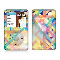 The Colorful Abstract Plaid Intersect Skin For The Apple iPod Classic