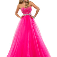 Sweetheart Sequined Top Formal Prom Dress Flirt P5818