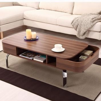 Jeff Modern Coffee Table in Walnut