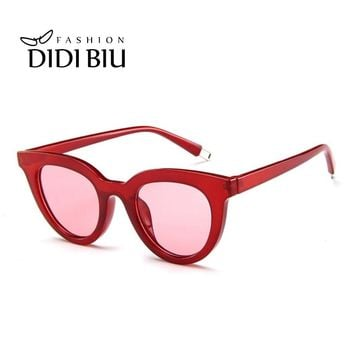 Sexy Small Round Hipster Sunglasses Women Brand Leopard Glasses Transparent Clear Lens White Frame Casual Yellow Eyewear UL923