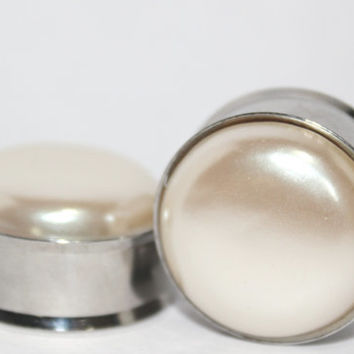 "Pearl Plugs 1"" Inch 25mm"