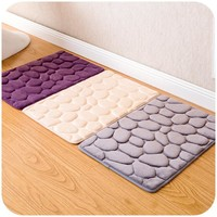 Soft Bathroom Rug 60*40CM Non-slip Bath Mat 4 Colors Modern Bathroom