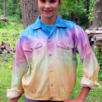Desert Ponies Ladies Hand-Painted Denim Jacket