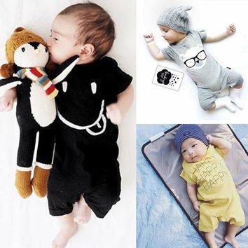 Baby Rompers Summer Boy Baby Gril Clothes Casual Cartoon Short Sleeve Baby Jumpsuits Cotton Baby Clothes
