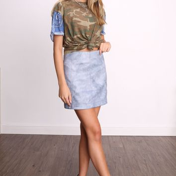 Free People Printed Clarity Tee
