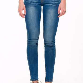 (ali) Machine jeans supersoft stone wash skinny jeans
