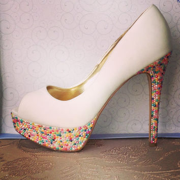 Candy Coated Rhinestone Inspired Heels
