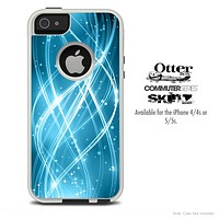 The Abstract Swirled Blue Skin For The iPhone 4-4s or 5-5s Otterbox Commuter Case