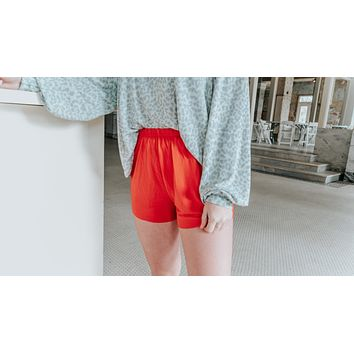 No One Else Shorts- Red