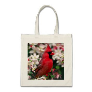 Red Male Cardinal Tote Bag