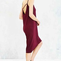 Truly Madly Deeply Asymmetrical-Back Midi Tee Dress