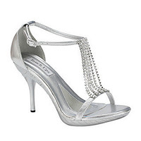 Prom Shoes, High Heels, Sexy Shoes, Formal Dress Shoes- PromGirl: TU-283 Chanelle Silver