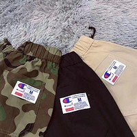 Champion x Supreme Ms. Tide fashion casual tight pants trousers F