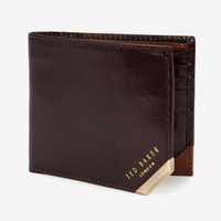 Metal corner coin wallet - Chocolate | Wallets | Ted Baker UK