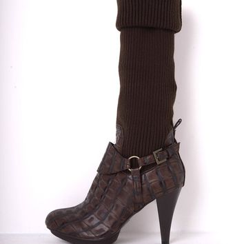 Pilar Abril Heeled Over The Knee Sock Boots
